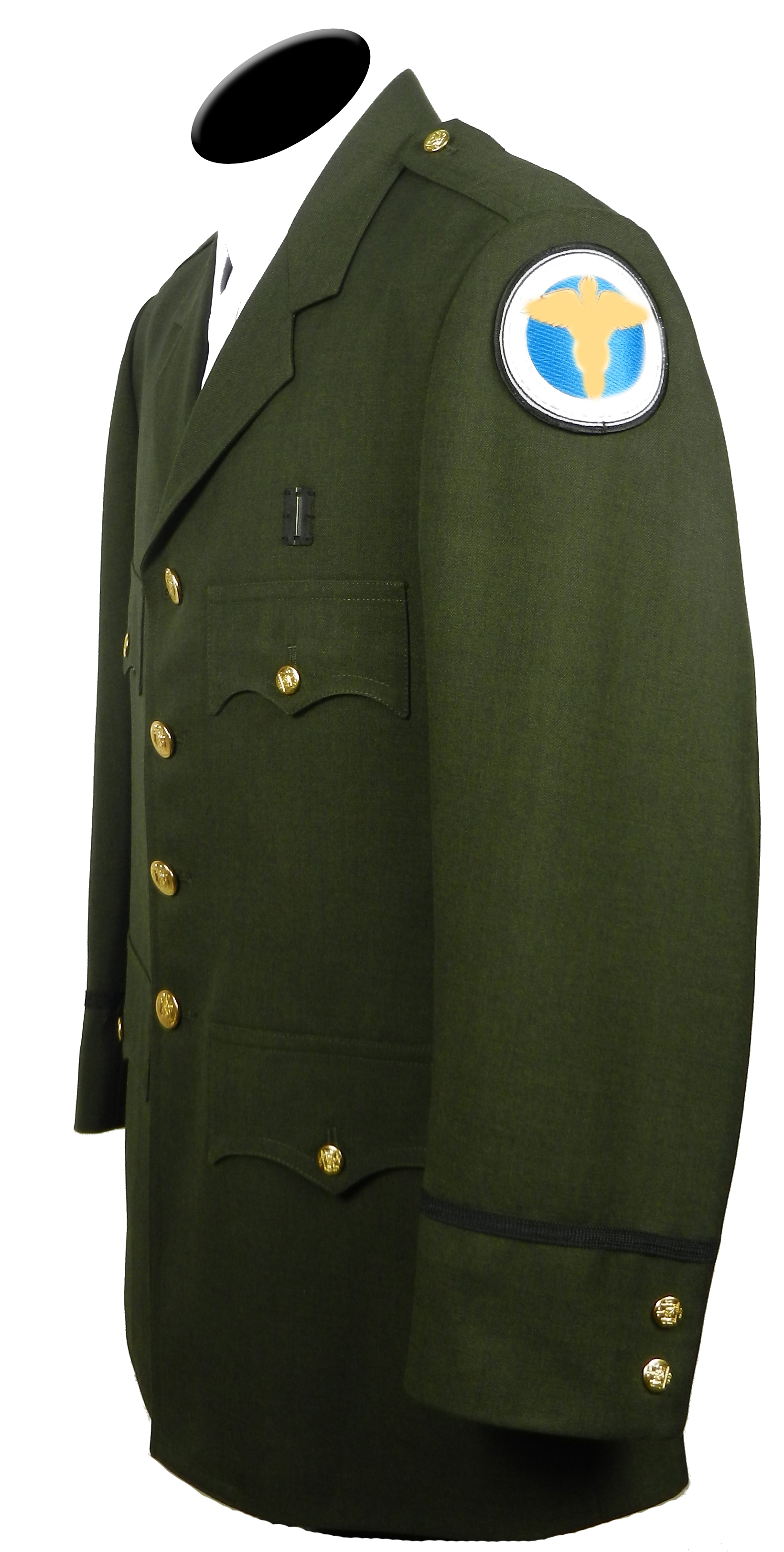 Dress Blouse Single Breasted Forest Green – Uniforms By ...
